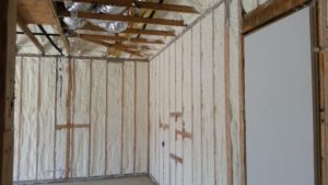 Open cell spray foam is a popular choice for new home construction.