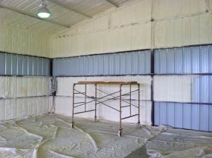 Metal buildings area prime candidates for closed cell spray foam insulation.