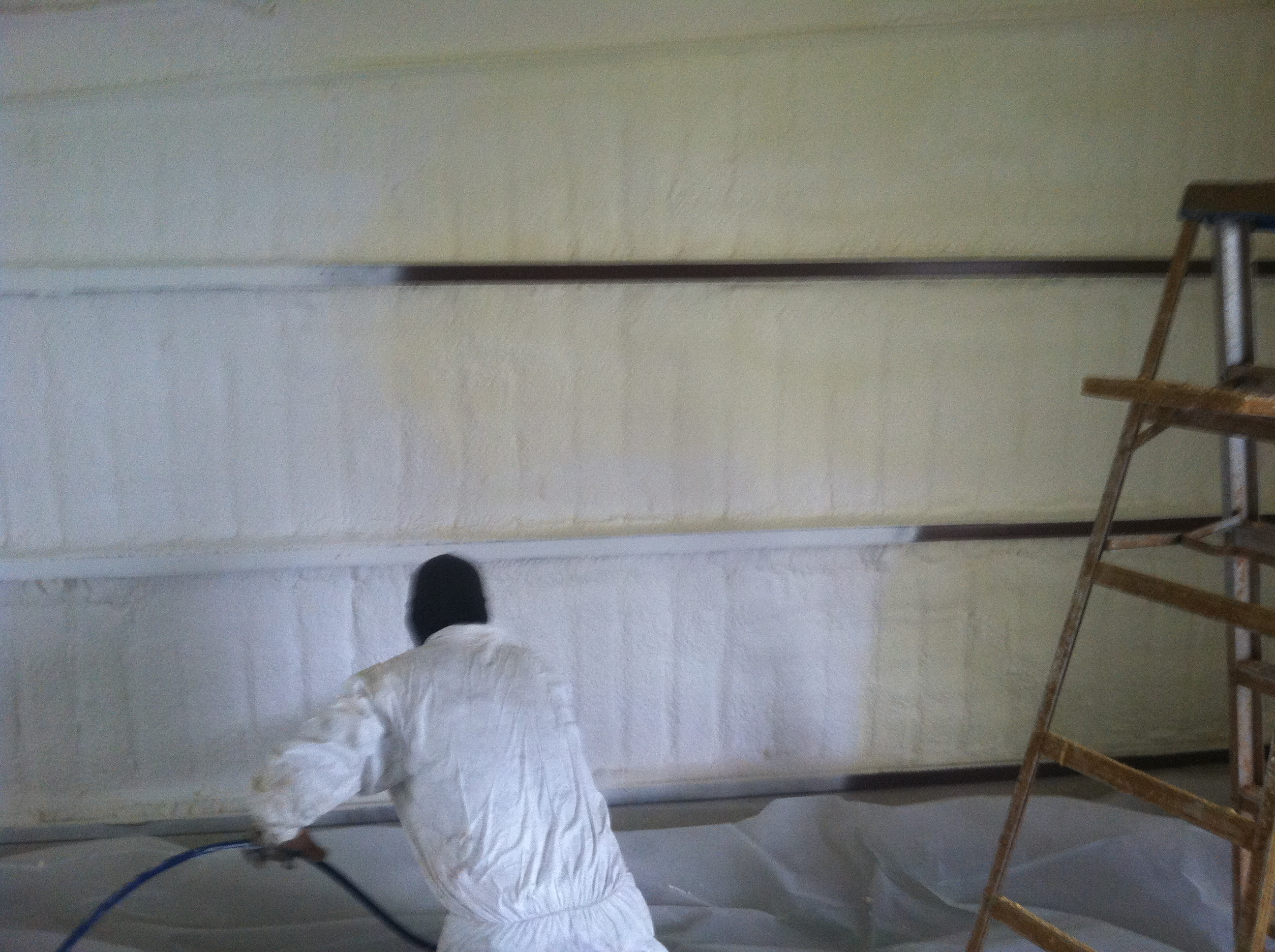 Spray foam insulation pictures j l cox enterprises 512 - What temperature can you paint outside ...
