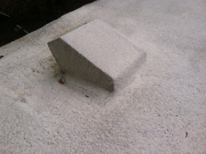 A closer look at how there are no seams whatsoever on our foam roofs. No seams = nowhere to leak!