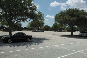 Parking in the shade prevents the sun from transferring heat to your car by means of radiation.